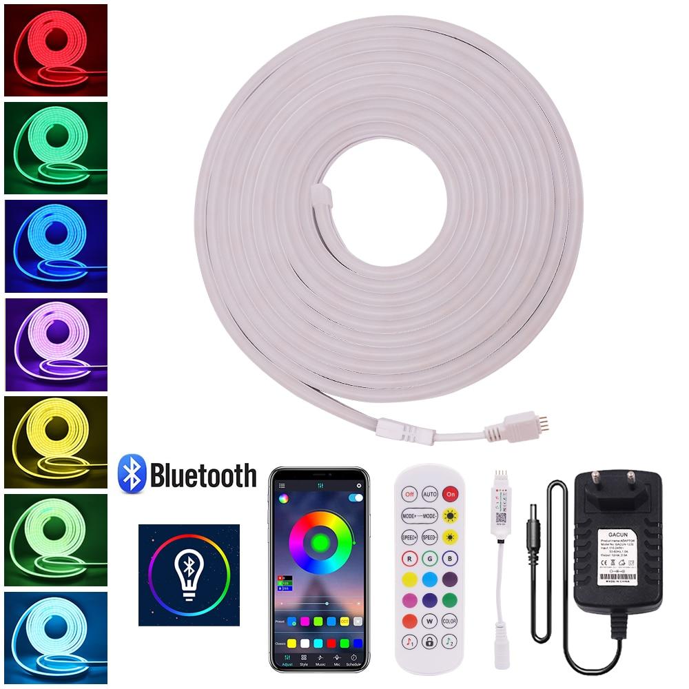 Bluetooth app controle rgb led luz de