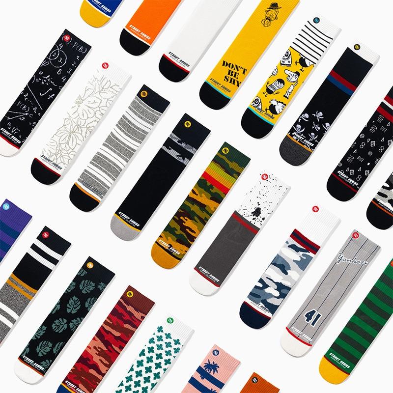 Streetwear Unisex Cool Socks Personality Graffiti Mens Crew Sports Hip Hop Meias Ins Fashion Harajuku Street Korean Womens Sock