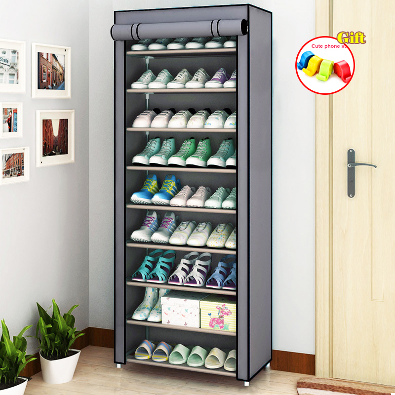 Многослойная стойка для обуви, съемный пыленепроницаемый шкаф для обуви из нетканого материала, органайзер для обуви