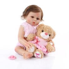 NPK 48cm Baby Doll Simulates Silicone Bebe Reborn Doll for Children's Birthday Christmas Gi