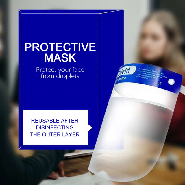 Splash-proof Dust-proof Mask Head-mounted Transparent Protect Mask Adjustable Protective Face Shield Anti Droplet Full Face Mask