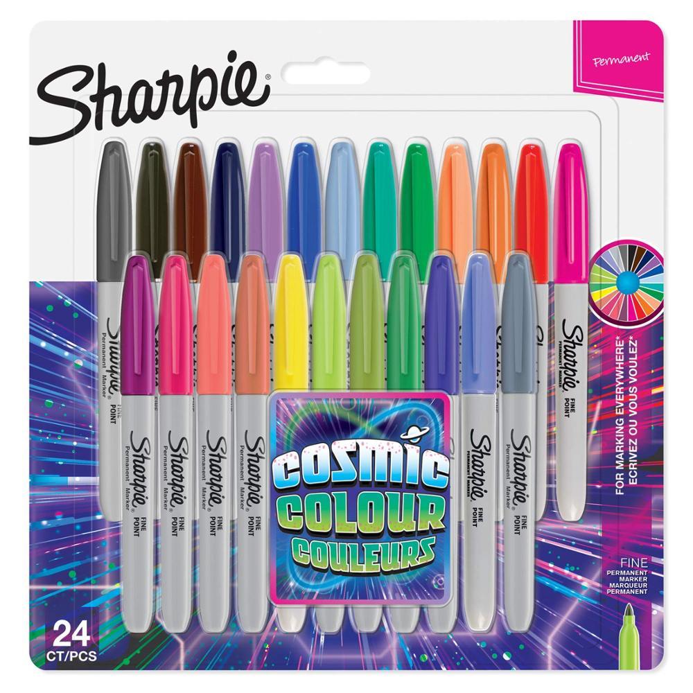 8/12/24 Pcs Set Sanford Sharpie Oil Marker Pens Colored Markers Art Pen Permanent Colour Marker Pen Office Stationery 1mm Nib