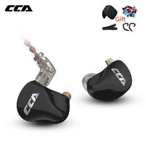 Image 1 - CCA CA16 في الأذن شاشات سماعات 7BA + 1DD الهجين السائقين سماعة أذن سلكية HIFI ستيريو IEM سماعة باس الرأس ل CCA C16 C12 KZ
