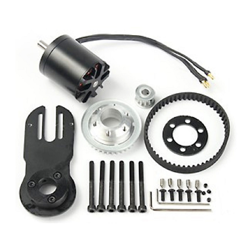 83mm 90mm 97mm Electrical Skateboard 1800W Motor 5M Gear 270mm Belts Kit And Motor Mount Parts Riserpad