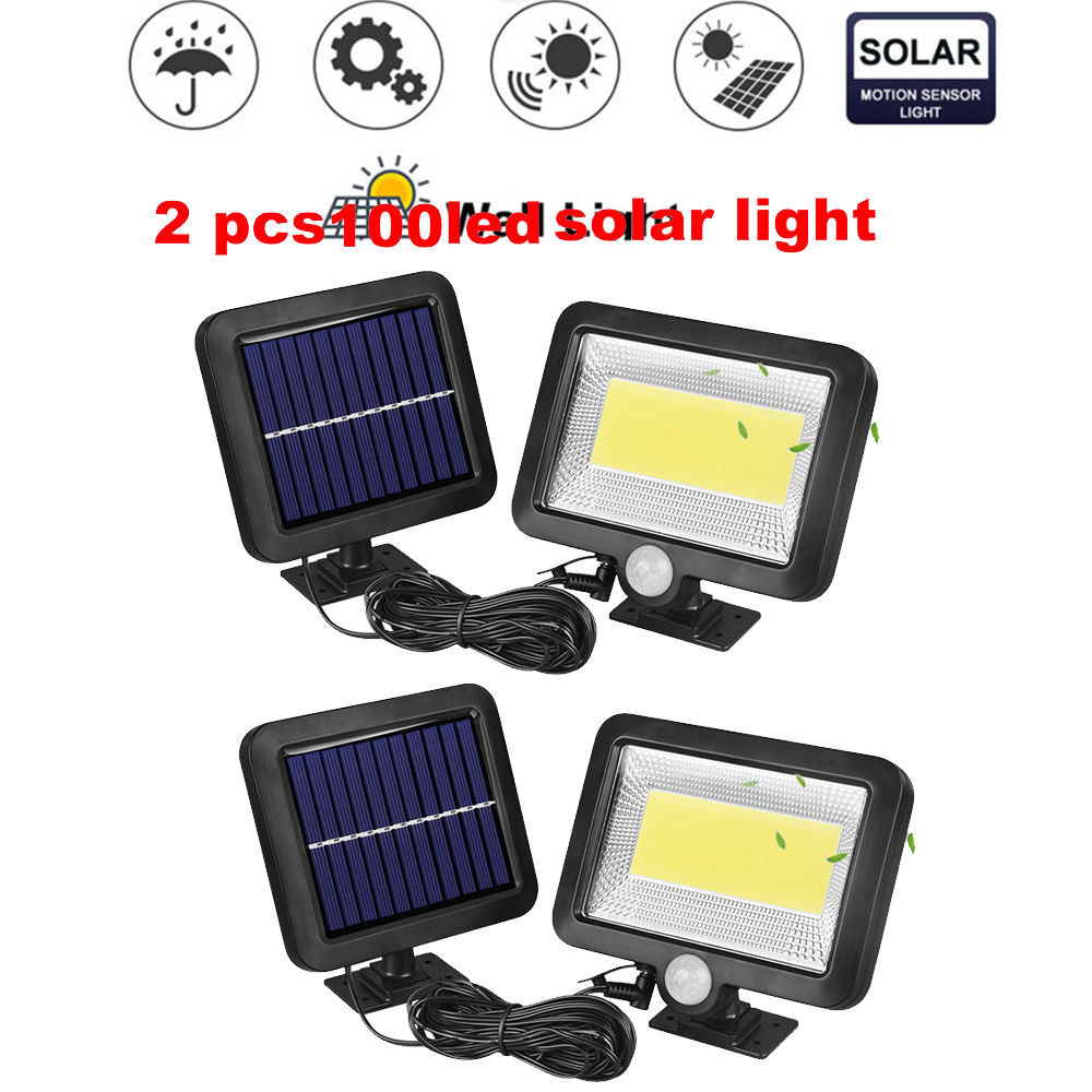 2/4pcs Solar Panels Led Solar Light For Garden Decoration Lighting 100/56/30 LEDS IP65 Waterproof & Heatproof Street Wall Lamp S