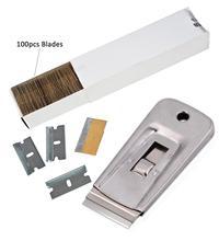 EHDIS Fahrzeug Reinigung Rasiermesser Schaber Mit Carbon Stahl Klinge Vinyl Auto Warp Aufkleber Entfernung Werkzeug Fenster Folie Tönung Film Rakel