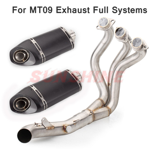 Exhaust Motorcycle Front Pipe Full System Echappement Moto Modified Pitbike Slip on Muffler Pipe For YZF MT09 MT 09 FZ-09 XSR900
