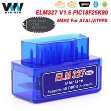 ELM327 V1.5 Bluetooth PIC18F25K80 Mini ELM 327 V 1 5 obd2 Scanner Adapter OBD 2 OBD2 Car Diagnostic Auto Tool ODB2 Code Reader