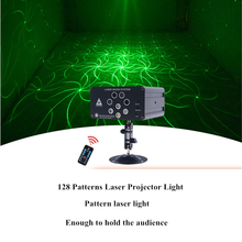 Mini Laser Lights 128 In 1 Pattern Led Stage Party Light Projector Strobe Lighting for Wedding, Home Karaoke Club Bar Disco DJ 4pcs stage light led disco light 10w dj laser projector mercury lamps festival bar club party disco strobe lights party lights