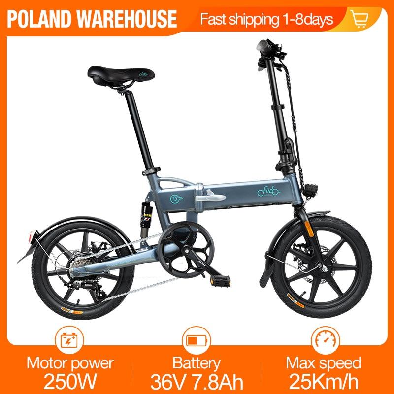 [Estoque da ue] fiido d2s dobrável bicicleta elétrica mudança de engrenagem versão 36v 7.8ah 250w 16 inche ciclomotor bicicleta elétrica 25km/h max