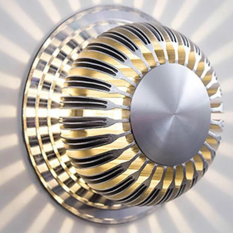 Round LED Wall Lamp Colorful Remote Control Corridor Light Modern Home Bar Aisle Porch Decoration Light