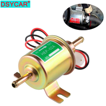 DSYCAR 1Set 12V Electric Fuel Pump Gas Inline Universal Low Pressure HEP-02A for Motorcycle Carburetor Lawn Mower New rastp 12v electric fuel gas oil pump 3 6 psi pressure hep 02a universal for car truck boat rs fp009