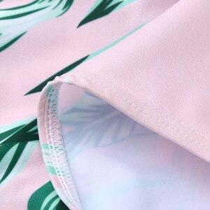 Maternidade tankinis roupa de banho feminino babados folha impresso biquinis maiô beachwear terno de natação grávida para wome g1
