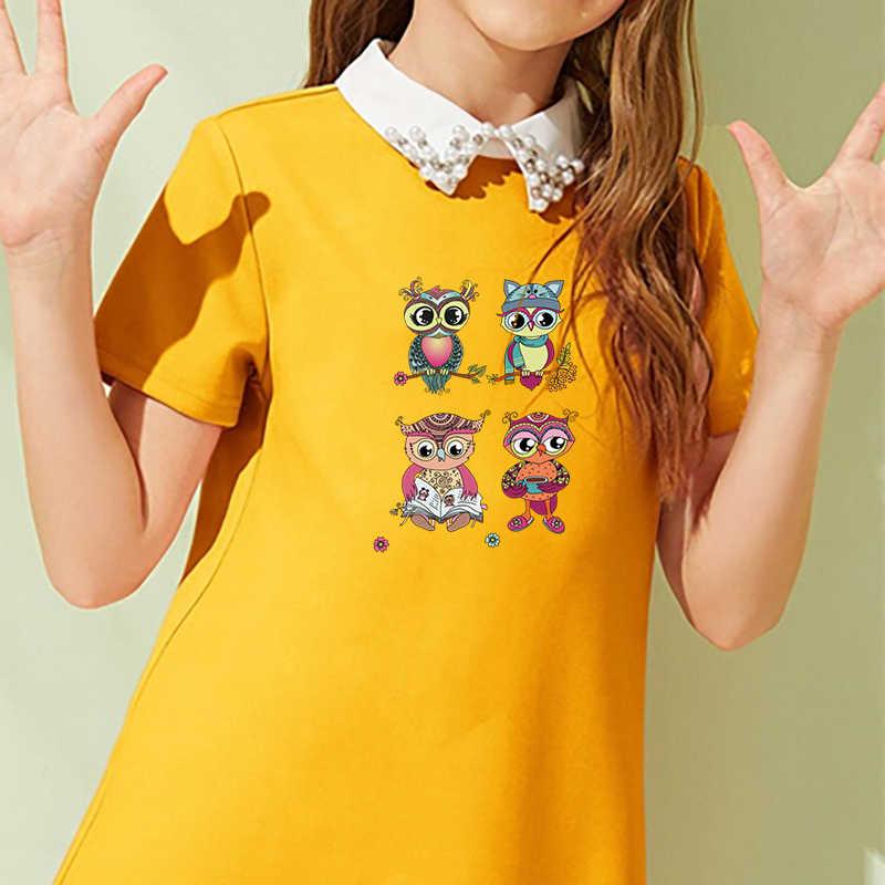 สัตว์แพทช์แมวนกฮูกรีดผ้าDiyเหล็กบนParchสำหรับเสื้อผ้าเด็กล้างทำความสะอาดได้Custom Patchesการถ่ายเทความร้อนสติกเกอร์ไวนิล