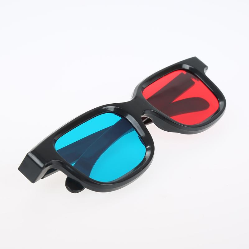 Black Frame Universal 3D Glasses/Red Blue Cyan 3D Glass Anaglyph 3D Movie Game DVD Vision/Cinema TSLM1 image