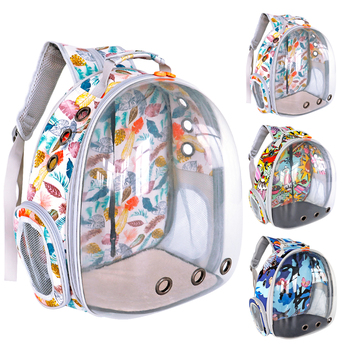 Transparent Cat Dog Carrier Bag Space Capsule Pet Puppy Cat Backpack Portable Outdoor Cat Shoulder Handbag For Small Dogs Puppy for 0 6 5kg dog bag carrier portable shoulder carrier for dogs cat pet carrier breathable dog bags for small dogs medium puppy
