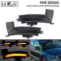 EIN Paar Dynamische LED seite spiegel blinker Rauch licht Blinker Lampe Für Skoda Kodiaq 2016
