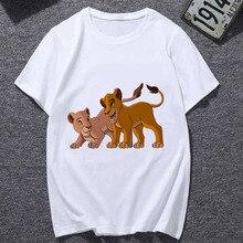 Hakuna Matata T Shirts Women Summer Short Sleeve Lion King Printed O-neck Tshirt