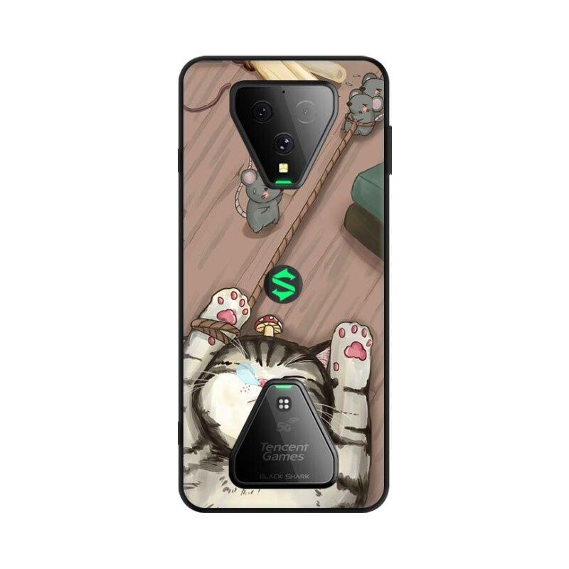 For Xiaomi Black Shark 3 Case Silicone Soft Black TPU Phone Case For Xiaomi Black Shark 3 Cover Wolf Flower Coque Black Shark3
