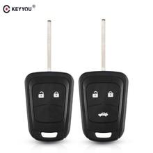 KEYYOU 10x 2/3 Buttons Remote Key Shell for Chevrolet Camaro Sonic Cruze Malibu Volt Spark Equinox Key Fob Case Car Accessories