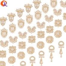 Design cordial 40 pces jóias acessórios/feitos à mão/zircônia cúbica encantos/genuíno chapeamento de ouro/diy fazendo/fingernail descobertas