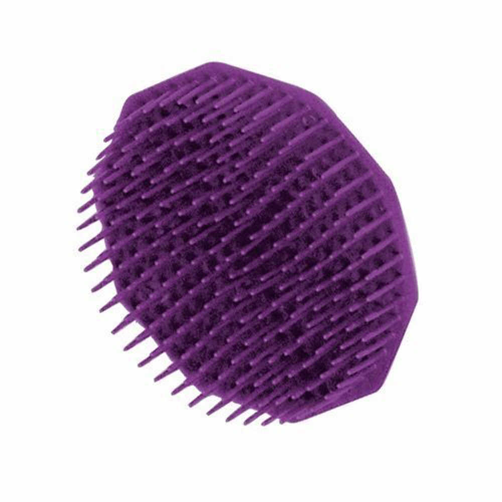 שמפו מברשת חמה סגול סיליקון שמפו קרקפת מקלחת מקלחת ג 'ל שיער לעיסוי מסרק щетка для тела мочалка бомбочки для T2