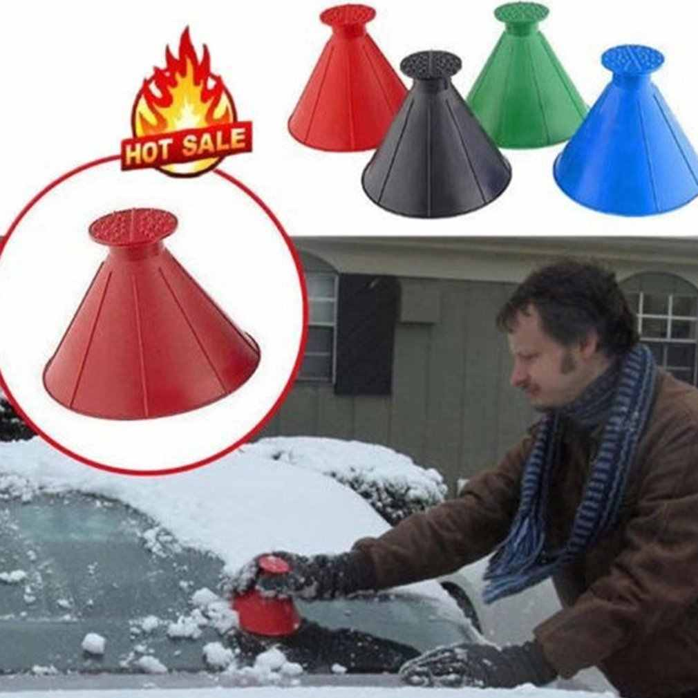 2020 Auto Magic Windscherm Auto Ijskrabber Vormige Trechter Sneeuw Remover Deicer Kegel Deicing Tool Vensterglas Cleaning