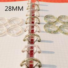Пластиковое кольцо для связывания 100 шт 28 мм прозрачная пряжка