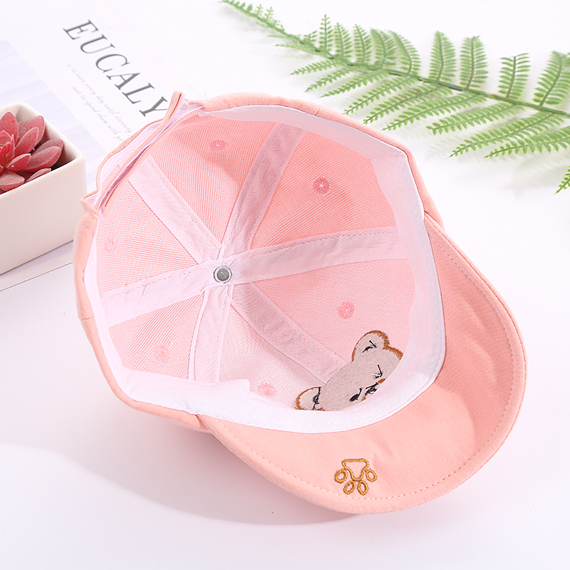 H4dc0e68f9d684e5caa20fc94f243a43dN - Baby Hat Cute Bear Embroidered Kids Girl Boy Caps Cotton Adjustable Newborn Baseball Cap Infant Toddler Beach Outdoor Sun Hat