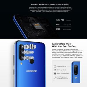 """Image 2 - DOOGEE N20 Mobile Phone Android 9.0 4G LTE MTK6763V Octa Core 4GB RAM 64GB ROM 6.3"""" FHD+ 19:9 Display 16.0MP 4 Cameras 4350mAh"""