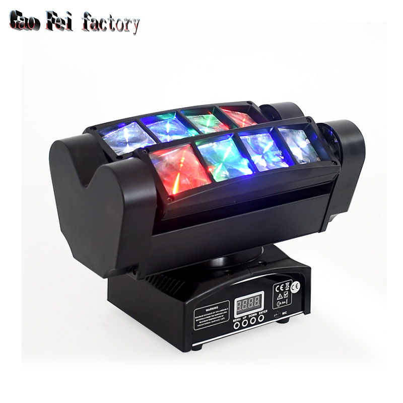 Led Spider Light Moving Head 8X10 Quad RGBW 4in1 Dmx 512 Control DJ Beam Effect For Bar Wedding Party