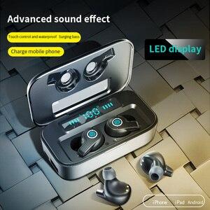 Беспроводные Bluetooth-наушники TWS, Hi-Fi стереонаушники с сенсорным управлением и датчиком отпечатков пальцев, наушники с активным шумоподавлени...