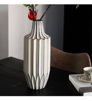 41cm Origami White Ceramic Vase Milky White Geometric Porclain Flower Pot Flower Basket Flower Vase Home Decoration Accessories