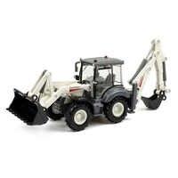 Alloy Diecast Excavator 1:50 4 Wheel Shovel Loader Two-way Forklift Bulldozer Back Hoe Loader Truck Model For Kids Gift Toys