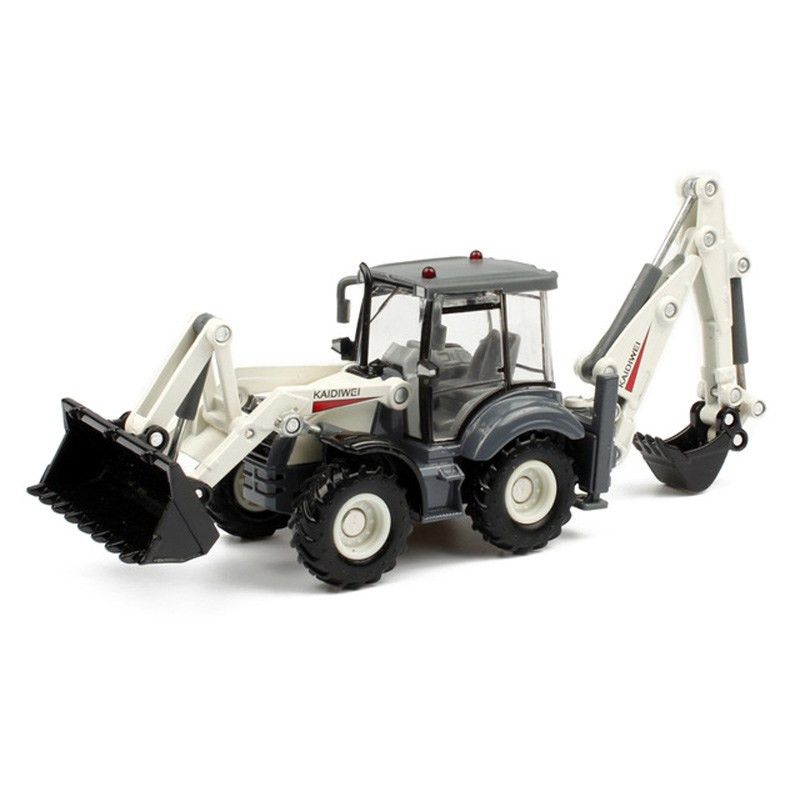 Alloy diecast excavator 1:50 4 wheel shovel loader two-way forklift bulldozer back hoe loader truck model for kids gift toys