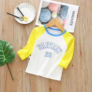 baby boys girls t shirt 2018 new Spring autumn long sleeves cartoon tees for toddler kids children cotton tops 9M-3T