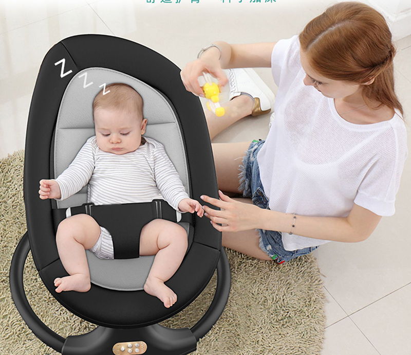 H4dc190511535484c96d0a35859cd771fj Baby rocking chair newborn baby shaker baby electric cradle with baby to sleep recliner comforter