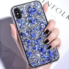 Glitter Case for iPhone X iPhone 7 8 6S Plus Luxury Bling Stone Crystal Soft Silicone Cover for iPhone XS Max XR Girl Gift Case чехол обложка iphone 6s plus silicone case stone mkxn2zm a