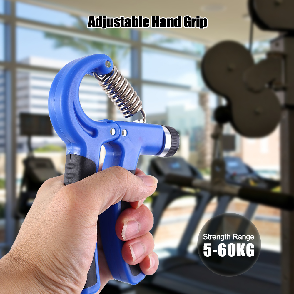 Adjustable R-Shape Countable Hand Grips Strength Exercise Strengthener Gripper