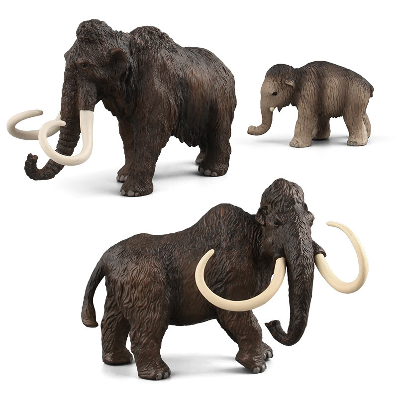 Simulation Mammoth Figure Collectible Toys Wild Animal Action Figures Kids Animal Cognitive Toys