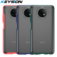 KEYSION caso mate para Redmi Nota 9T 5G 9 transparente Airbag a prueba de golpes a prueba funda trasera del teléfono para Xiaomi Mi 10T Pro 5G 10T Lite