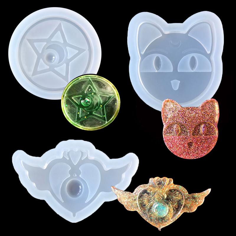 Popular1PC Star Wing Cat Liquid Silicone Expoxy Mold Resin Jewelry Mold UV Pendant Jewelry Accessories Handcraft Jewelry Tool