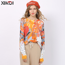 XIKOI Fashion Print Sweater For Women Winter Overs