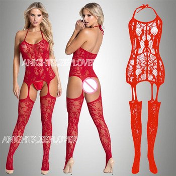 Σέξι bodysuit με ενσωματωμένες κάλτσες