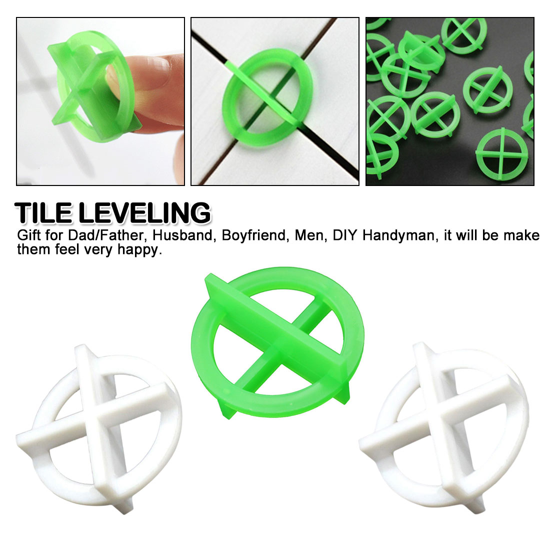 50pcs Removable Tile Leveling System Slit Locator Floor Laying Tile Alignment Leveler Clips Construction Tool 1.5/2.0/3.0mm
