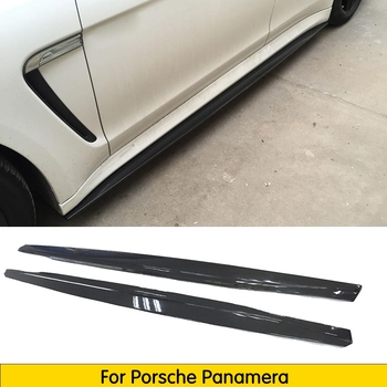 Carbon Fiber Side skirts Extension for Porsche Panamera 2010 - 2013 Car-styling