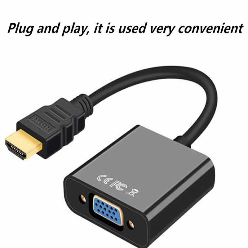 HDMI NAAR VGA adapter met aduio kabel HDMI splitter naar VGA converter Digitale Analoge HD 1080p voor Voor PC laptop Tablet HDMI kabel