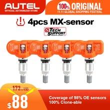 4 шт./лот Autel MX Сенсор 433 мГц программируемый Универсальный TPMS Сенсор Поддержка программирования с TS601 MX Сенсор 433 мГц