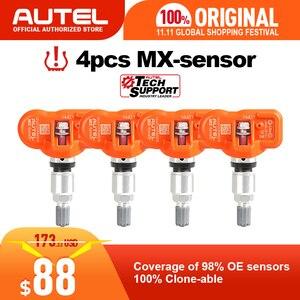Image 1 - 4pcs Autel MX 센서 433MHZ 315MHz MX 센서 Autel TS601 TS401 TPMS 패드 OBD2 프로그래밍 가능 범용 TPMS 센서