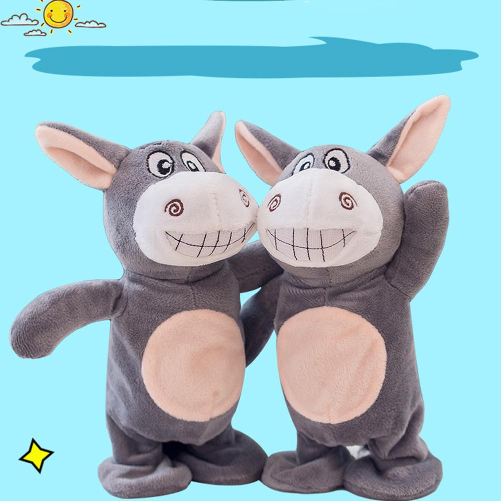 Interactive Talking Toy Donkey Electric Pets Plush Recording Smart Walking Toys